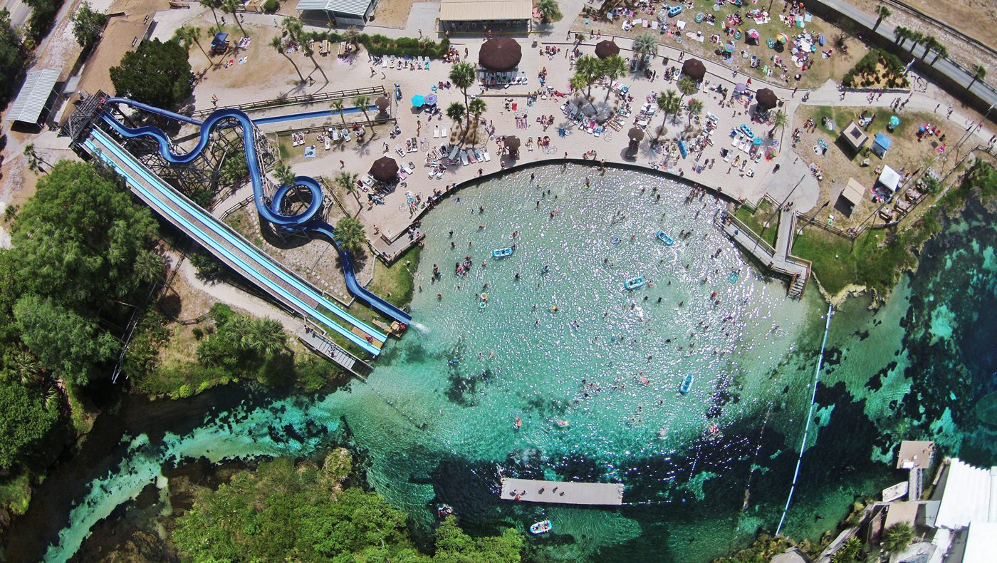 aerial view of weeki wachee springs state park