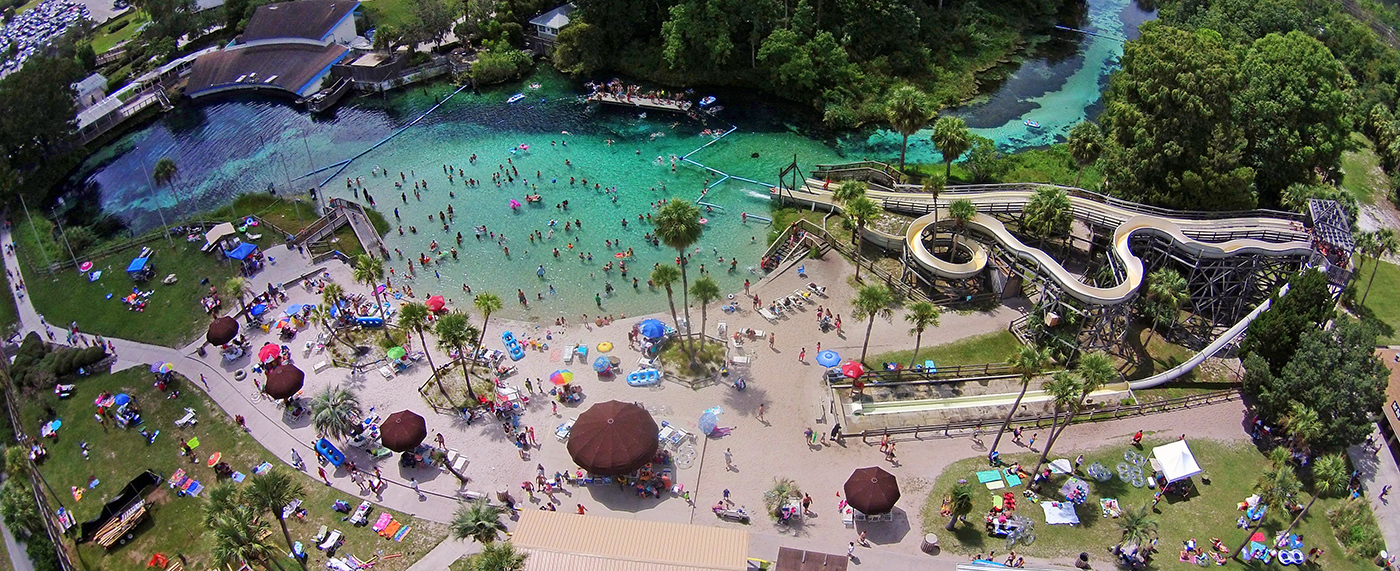 weeki wachee springs drone view